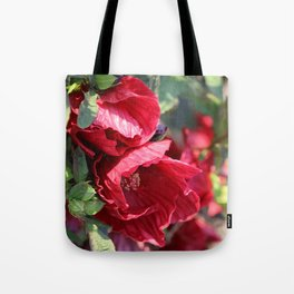 Glorious Giant Red Hibiscus Tote Bag