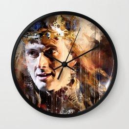 King Richard doth himself appear Wall Clock