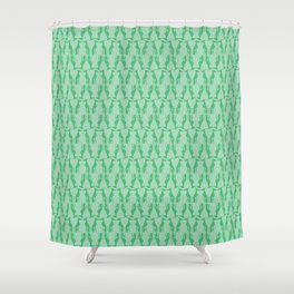 Greyhounds in Green Shower Curtain