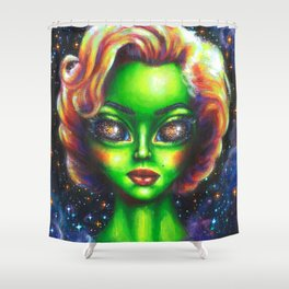 Iconic Alien Women: Marilyn Shower Curtain