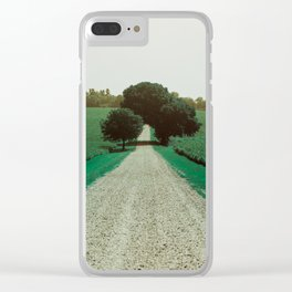 Best Farm Tree Turquoise Clear iPhone Case