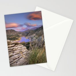 Clouds over the lake Stationery Cards