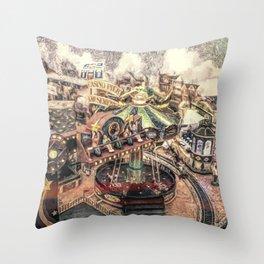 Casino Pier Throw Pillow