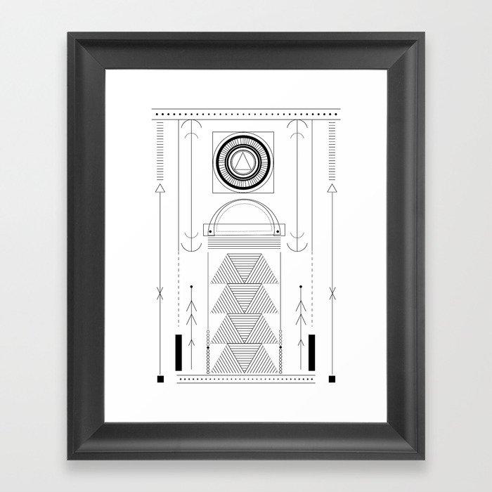 cirquit blank Framed Art Print