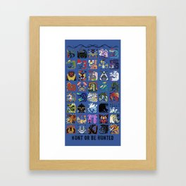 Monster Hunter - Hunt or be Hunted Framed Art Print