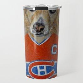 dog in sportwear Travel Mug
