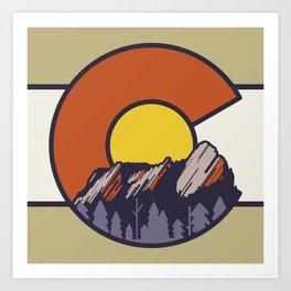 Boulder Flatirons Colorado Art Print