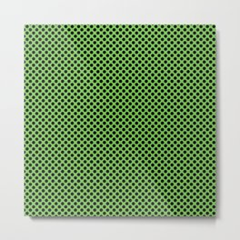 Green Flash and Black Polka Dots Metal Print