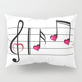 Music love concept Pillow Sham