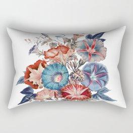 Morning Glories Flower Bouquet Rectangular Pillow