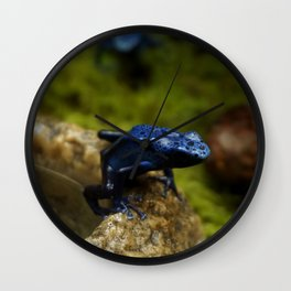 Blue Frog Wall Clock