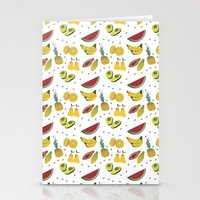 fruits Stationery Cards featuring Fruits by Amanda Araujo