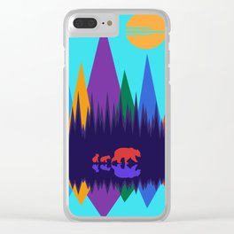 Bear & Cubs #3 Clear iPhone Case
