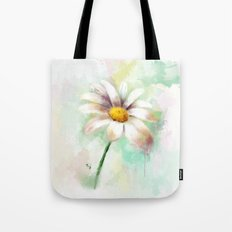 Daisy watercolor - flower illustration Tote Bag