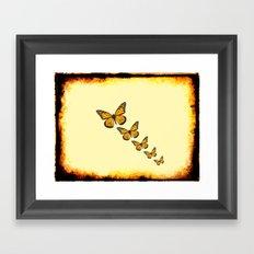 Rustic Butterflies Framed Art Print