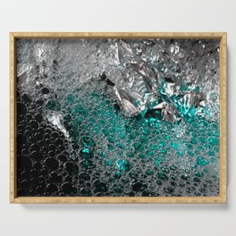 Polar Ice   Abstract Photography Serving Tray