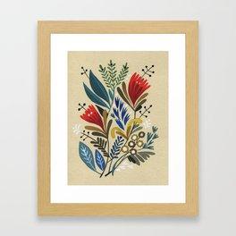 folkflower II Framed Art Print