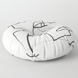 Abstract line art 12 Floor Pillow