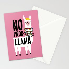 No Prob-Llama Stationery Cards