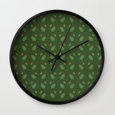 leaf pattern Wall Clock