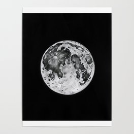 Full Moon Lunar Phase Poster