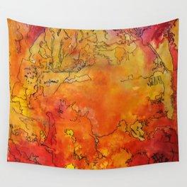 Yellow Dreams Wall Tapestry