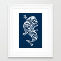 dick Framed Art Prints featuring The White Whale  by Peter Kramar