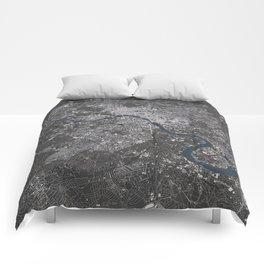 London City Map II Comforters