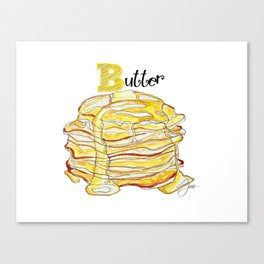 B is for Butter Canvas Print