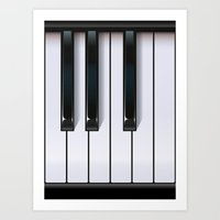 piano Art Prints featuring Piano by rob art | illustration