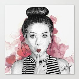 Zoella  Canvas Print