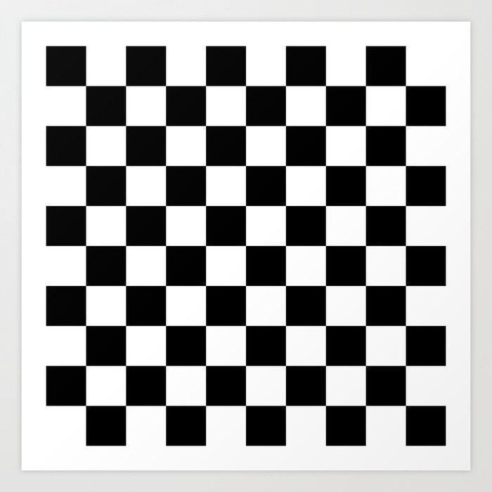 black white checkered pattern art print by lainey1978 society6