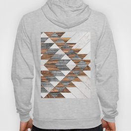 Urban Tribal Pattern No.12 - Aztec - Wood Hoody