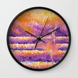amethyst in the glow Wall Clock