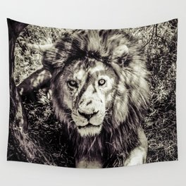 Mufasa stares back Wall Tapestry