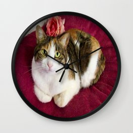 Antigone romantic kitty Wall Clock