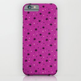 Cute hand-drawn and doodly stars and dots pattern. iPhone Case