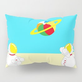 Space Odyssey | Astronaut Beach | Beach Ball | Summer | Sea | Seaside | Ocean | pulp of wood Pillow Sham