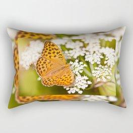 Argynnis paphia butterfly beauty Rectangular Pillow