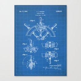Ships Wheel Patent - Boat Wheel Art - Blueprint Canvas Print