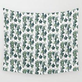 Ernst Haeckel Peridinea Plankton Algae Teal Wall Tapestry