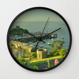Ilfracombe Harbour Summer Wall Clock