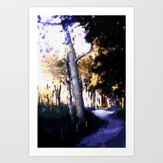 Hiking on the Coast. Art Print