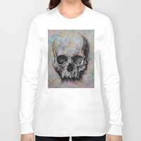 medieval Long Sleeve T-shirts featuring Medieval Skull by Michael Creese
