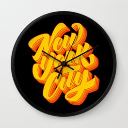 New York City Lettering Wall Clock