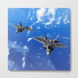 F-22 Raptor Metal Print