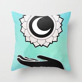 Sunflower Hand Throw Pillow