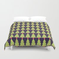 christmas tree Duvet Covers featuring CHRISTMAS TREE by aztosaha