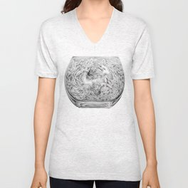 Two Lost Souls Swimming In A Fish Bowl Unisex V-Neck