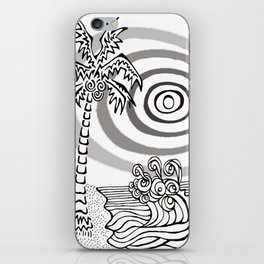Palms and Waves iPhone Skin